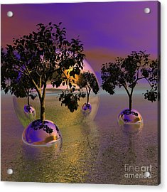 Seeking Higher Ground Acrylic Print by Wayne Bonney