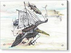 Seeking Value Through Sea And Sky Acrylic Print