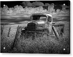 Seen Better Days In Black And White Acrylic Print by Randall Nyhof