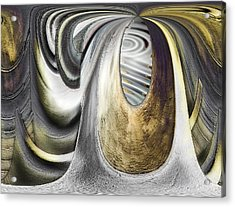 Acrylic Print featuring the digital art Seen In Stone by Wendy J St Christopher