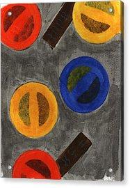 Segments 1 Acrylic Print by David Townsend