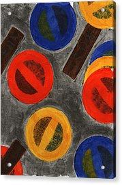 Segments 4 Acrylic Print by David Townsend