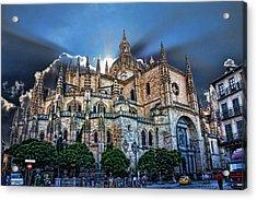 Segovia Cathedral  Acrylic Print by Angel Jesus De la Fuente