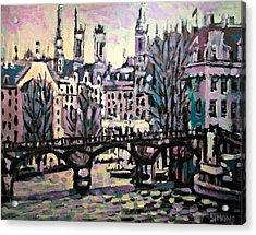 Seine Acrylic Print by Brian Simons