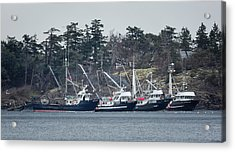 Seiners In Nw Bay Acrylic Print by Randy Hall