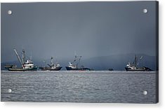 Acrylic Print featuring the photograph Seiners Off Mistaken Island by Randy Hall