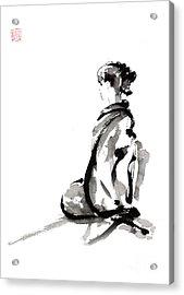 Seiza - Zen Painting. Acrylic Print