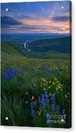 Selah Sunset Acrylic Print by Mike  Dawson