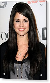 Selena Gomez At Arrivals For Seventh Acrylic Print by Everett