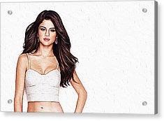 Selena Gomez Acrylic Print