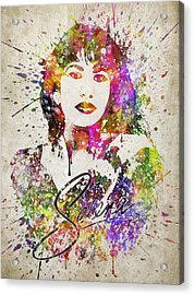 Selena Quintanilla In Color Acrylic Print by Aged Pixel