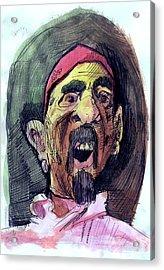 Self In Pirate Mask Acrylic Print by John Baker