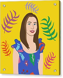 Self Portait Acrylic Print by Nicole Wilson