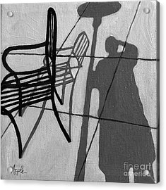 Self Portrait - Cafe Shadows Painting Acrylic Print by Linda Apple