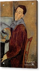 Self Portrait Acrylic Print by Amedeo Modigliani