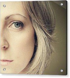 Self-portrait Acrylic Print by Amy Tyler