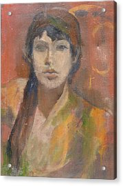 Acrylic Print featuring the painting Self-portrait by Anita Dale Livaditis