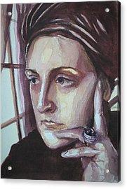 Self-portrait At 30 Acrylic Print by Aleksandra Buha