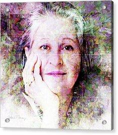 Self Portrait Acrylic Print by Barbara Berney