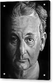 Self Portrait - If I Looked Like Bill Murray Acrylic Print