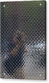 Self Portrait In Steel Acrylic Print by Robert Ullmann