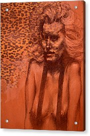 Self Portrait Acrylic Print by J Oriel