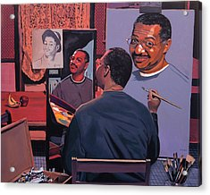 Self Portrait Acrylic Print by Kenneth Young