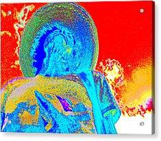 Acrylic Print featuring the digital art Self-portrait by Loko Suederdiek