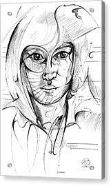 Self Portrait Acrylic Print by Nicholas Burningham