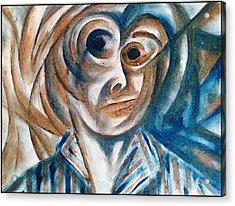 Self-portrait  Acrylic Print by Paulo Zerbato