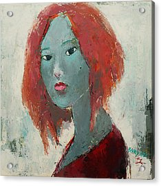 Self Portrait 1502 Acrylic Print by Becky Kim
