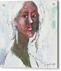 Self Portrait 1503 Acrylic Print by Becky Kim