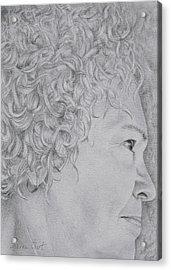 Self Portrait Acrylic Print by Sharon Ebert
