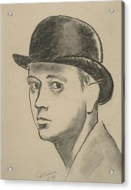 Self-portrait Sketch Of Carl Erickson Acrylic Print