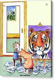 Self Portrait, Tiger Acrylic Print
