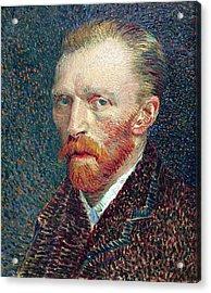 Self Portrait Vincent Van Gogh Acrylic Print by Daniel Hagerman