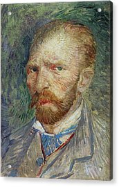 Self-portrait Acrylic Print by Vincent Van Gogh