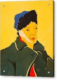 Self Portrait With Bandaged Ear. After Vincent Van Gogh Acrylic Print by Vitali Komarov