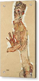 Self-portrait With Splayed Fingers Acrylic Print