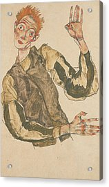 Self-portrait With Striped Armlets Acrylic Print