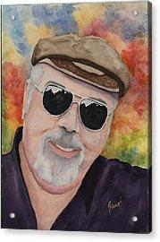 Self Portrait With Sunglasses Acrylic Print by Sam Sidders