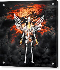 Self Portrait With Wings Acrylic Print by Andy Frasheski
