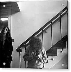Self-portrait, With Woman, In Mirror, Cropped, 1972 Acrylic Print