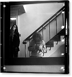 Self-portrait, With Woman, In Mirror, Full Frame, 1972 Acrylic Print