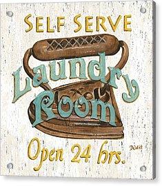 Self Serve Laundry Acrylic Print