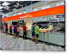Acrylic Print featuring the photograph Self-service Restaurant On A Sidewalk In Kaohsiung City by Yali Shi