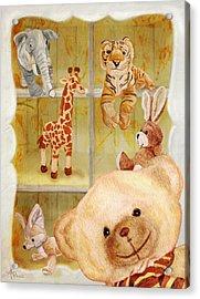 Selfie Bear Acrylic Print
