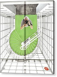 Selfie In The Cinematheque Acrylic Print
