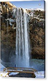 Seljalandsfoss Waterfall Iceland Europe Acrylic Print by Matthias Hauser