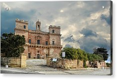 Selmun Palace On A Winter Day Acrylic Print by Stephan Grixti